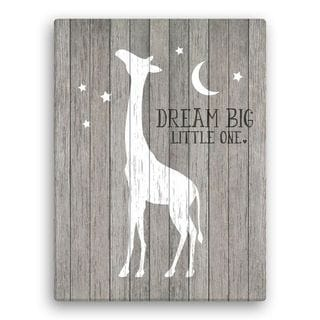 Dream Big Little One 18x24Giraffe Canvas