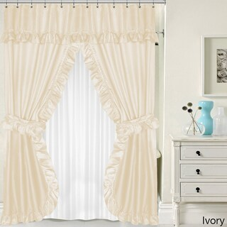 Double Swag 5-piece Liner, Tie-back, and Shower Curtain Set (Option: Ivory)