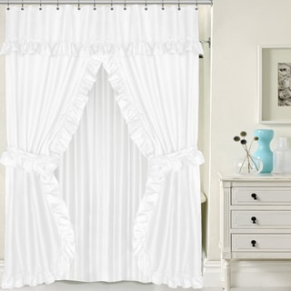 double swag 5piece liner tieback and shower curtain set