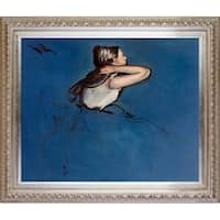 Edgar Degas 'Seated Dancer in Profile' Hand Painted Oil Reproduction