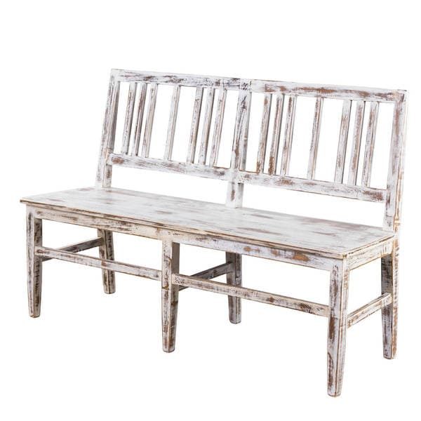 Shop Handmade Buffed Strata Mission 3 Seat Dining Bench India