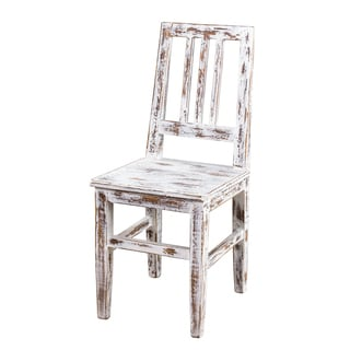 Mission Buffed Strata White Dining Chair (India)
