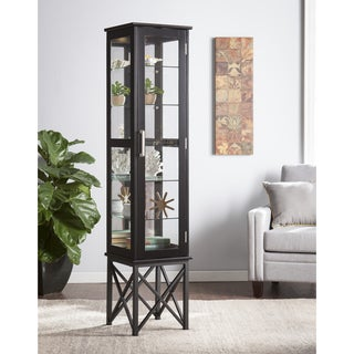 Harper Blvd Palmetto Lighted Curio Cabinet - Satin Black