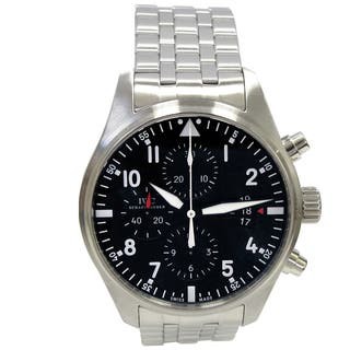 Pre-owned IWC Pilot Chronograph Stainless Steel Watch|https://ak1.ostkcdn.com/images/products/13287601/P19997225.jpg?impolicy=medium