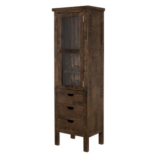 Handmade Rustic Mission Kitchen Cabinet (India)