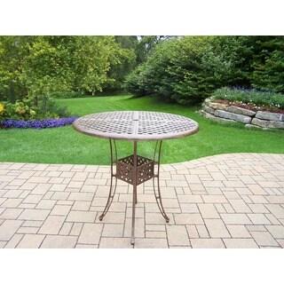 Oakland Living Corporation Merit Antique Bronze Cast Aluminum 42-inch Round Dining Table