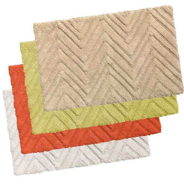 Chevron Cotton Bath Rug in Assorted Colors