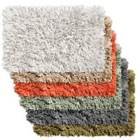 Cotton Blend Paper Shag Bath Rug in Assorted Colors
