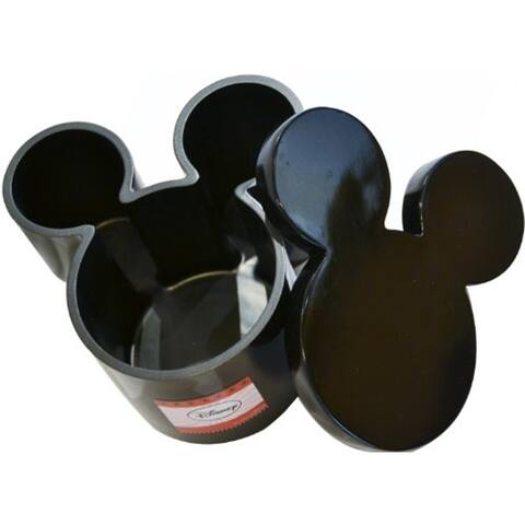 Disney Mickey Mouse Icon Head - Black Cotton Jar