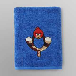 Angry Birds Embroidered Bath Towel