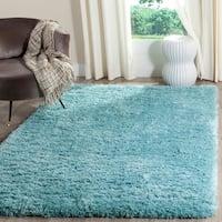 Safavieh Polar Light Turquoise Shag Rug - 5' 1 x 7' 6