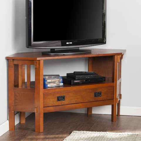 Chenton Corner Media Stand - Brown Mahogany