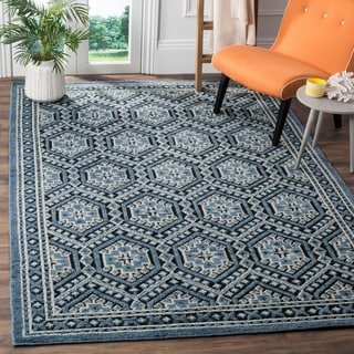 Safavieh Paseo Hand-Knotted Navy Wool Rug (6' x 9')