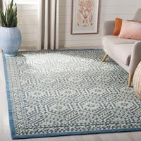 Safavieh Paseo Hand-Knotted Blue Wool Rug - 6' x 9'