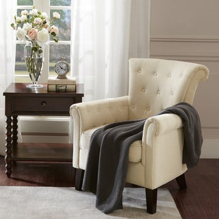 Madison Park Timmy Cream Tufted Club Chair