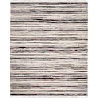 Safavieh Hand-Woven Rag Cotton Rug Ivory/ Charcoal Cotton Rug - 6' x 9'
