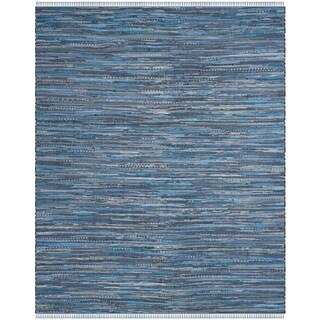 Safavieh Hand-Woven Rag Cotton Rug Blue/ Multicolored Cotton Rug (6' x 9')