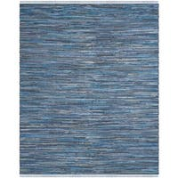 Safavieh Hand-Woven Rag Cotton Rug Blue/ Multicolored Cotton Rug - 6' x 9'