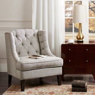 Madison Park Kelso Beige Button Tufted Accent Chair