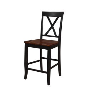 Emerald Home Belmar Black And Cherry X Back Barstool (Set Of 2)
