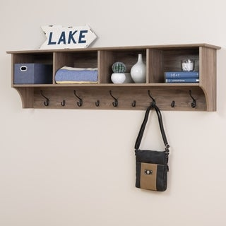 Prepac Grey Wood 60-inch Hanging Entryway Shelf