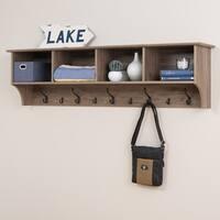 "Prepac 60"" Wide Hanging Entryway Shelf, Drifted Gray"