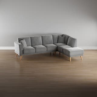 Furniture of America Rama Mid-Century Modern Flannelette L-Shaped Sectional|https://ak1.ostkcdn.com/images/products/13287976/P19997573.jpg?impolicy=medium