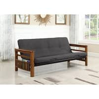 Coaster Company Weathered Oak Full-size Futon Frame