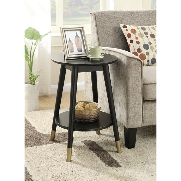 Convenience Concepts Wilson Mid Century Round End Table