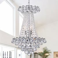Avril Chrome & Crystal Empire Chandelier