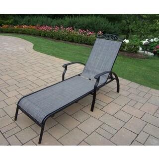 Havenside Home Pascagoula Black Aluminium/Metal/Synthetic Foldable Sling Chaise Lounge
