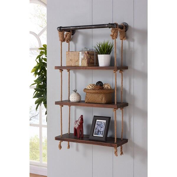 armen living brannon grey finished modern pine wood 24. Black Bedroom Furniture Sets. Home Design Ideas