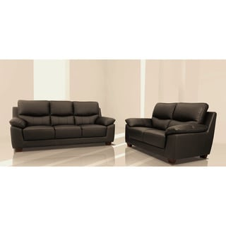 Renzo Italian Leather Match Sofa and Loveseat Set