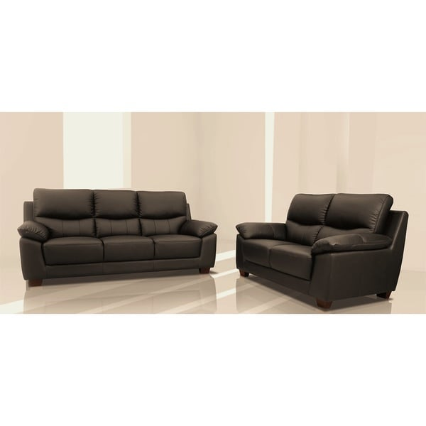 Does Sofa And Loveseat Have To Match: Shop Renzo Italian Leather Match Sofa And Loveseat Set
