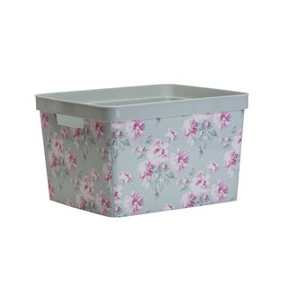 Laura Ashley Large Resin Storage Bin in Beatrice Grey
