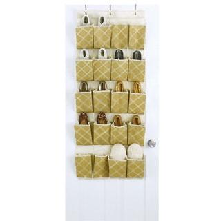 Closetcandie 20 Pocket Shoe Organizer in Jasmine Gold