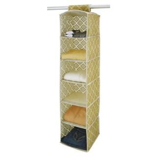 Closetcandie 6 Shelf Organizer in Jasmine Gold