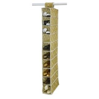 Closetcandie10 Shelf Shoe Organizer in Jasmine Gold