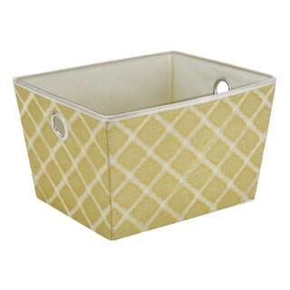Closetcandie Large Grommet Storage Bin in Jasmine Gold