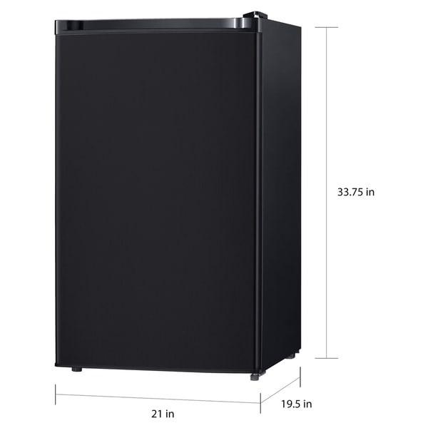 Keystone Energy Star 4.4 Cu. Ft. Compact Single-Door Refrigerator with Freezer Compartment - Black