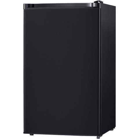 Keystone Energy Star 4.4 Cu. Ft. Compact Single-Door Refrigerator with Freezer Compartment - Black