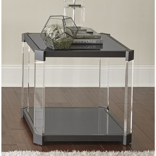 Greyson Living Naslini End Table with Acrylic Legs - 24 x 24 x 24