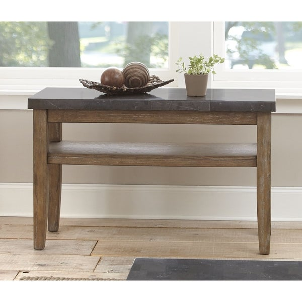 Danni Sofa Table With Stone Top By Greyson Living