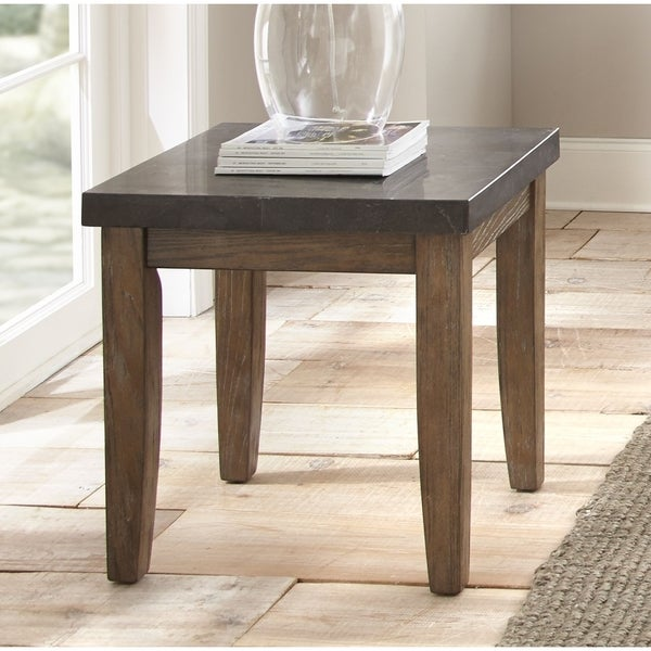 Shop Danni End Table With Stone Top By Greyson Living Free