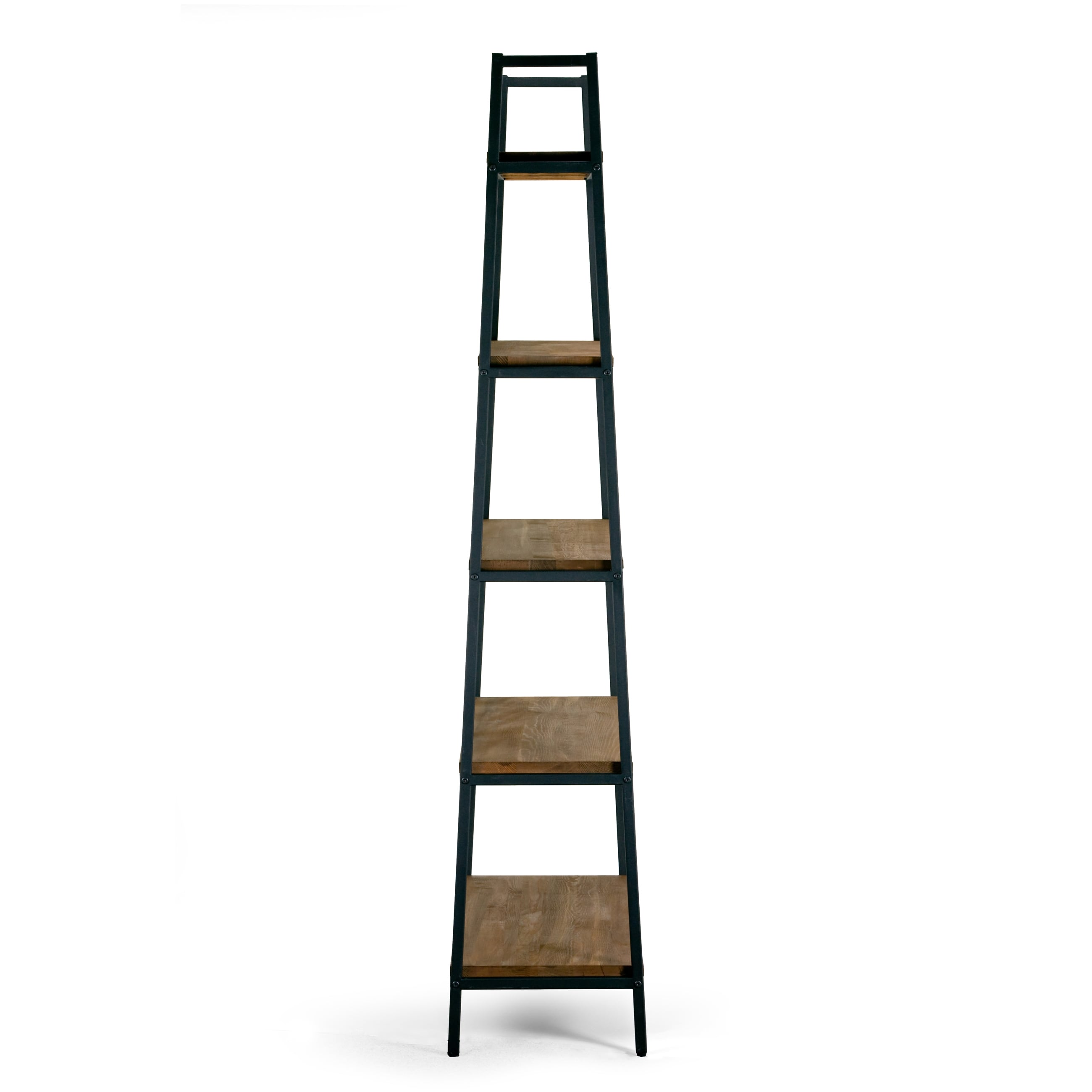 interesting affordable ailis brown pine wood metal frame inch shelf etagere bookcase and media. Black Bedroom Furniture Sets. Home Design Ideas