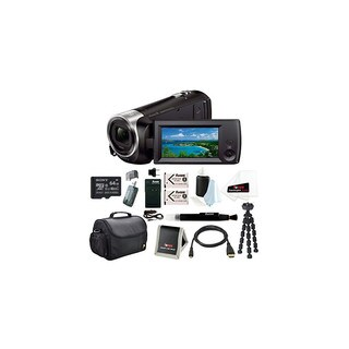 Sony HD Video Recording HDRCX405 HDR-CX405/B Handycam Camcorder (Black) + Sony 64GB Micro SD Memory Card Bundle
