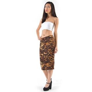 MOA Collection Women's Leopard Print Skirt
