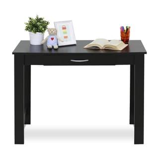 Furinno 15108BKW Jaya Black MDF Writing Desk with Drawer