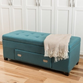 Bluebell Fabric Storage Ottoman with Drawer by Christopher Knight Home