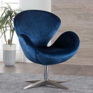 Christopher Knight Home Athena Velvet Modern Swivel Petal Chair